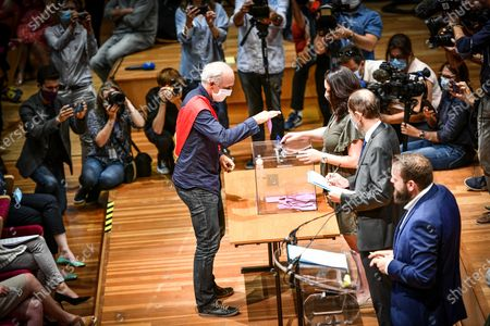 Editorial image of Pierre Hurmic, election of the new mayor of Bordeaux, France - 03 Jul 2020