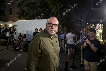 Stock Image of Italian film director Paolo Virzi attends the opening night of an outdoor movie theater at the San Cosimato square in the trendy and bohemian Trastevere neighborhood of Rome, Italy, 03 July 2020 (issued 04 July 2020).