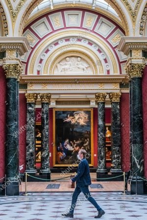National Gallery reopens, London