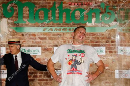 Editorial picture of Hot Dog Eating Contest, New York, United States - 04 Jul 2020