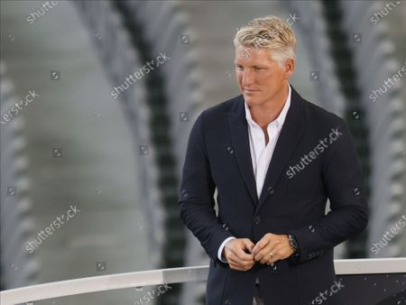 Stock Picture of Former Bayern Munich player Bastian Schweinsteiger prior to the German DFB Cup final soccer match between Bayer Leverkusen and Bayern Munich in Berlin, Germany, 04 July 2020.