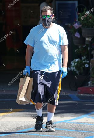 Adam Sandler stops at the market in Malibu