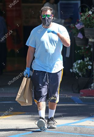 Stock Picture of Adam Sandler stops at the market in Malibu