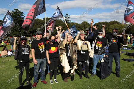 As part of a national weekend of action about 2,000 protesters gathered at the Domain park. Their demands were: Stop Black Deaths in Custody - Justice Now! Defund Police and Prisons - Build Communities. Shut Youth Prisons - Bring the Children Home. Stop the NT Intervention.