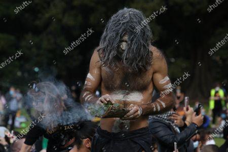 Aboriginal smoking ceremony.