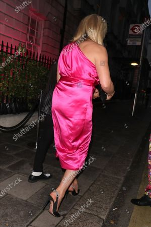 Penny Lancaster and Rod Stewart at Annabel's club