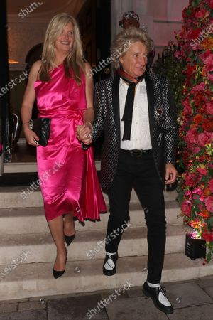 Stock Picture of Penny Lancaster and Rod Stewart at Annabel's club