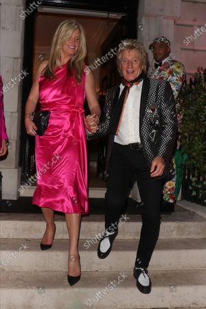 Stock Image of Penny Lancaster and Rod Stewart at Annabel's club