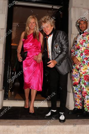 Editorial photo of Penny Lancaster and Rod Stewart out and about, London, UK - 04 Jul 2020