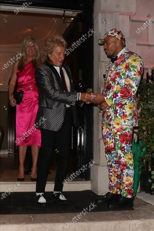 Stock Photo of Penny Lancaster and Rod Stewart at Annabel's club