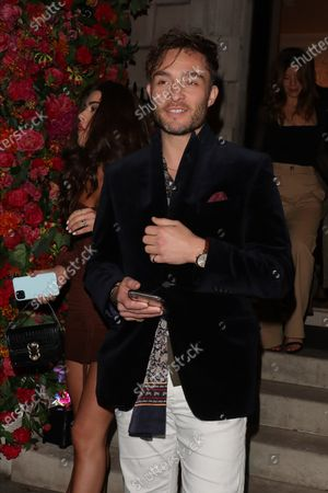 Stock Photo of Ed Westwick at Annabel's club
