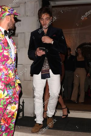 Stock Image of Ed Westwick at Annabel's club
