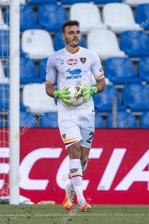 "Stock Picture of Gabriel Vasconcelos Ferreira (Lecce)                               during the Italian ""Serie A"" match between Sassuolo 4-2 Cagliari at  Mapei  Stadium on July 04 , 2020 in Reggio Emilia, Italy."