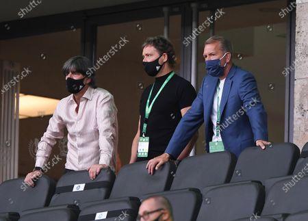 DFB headcoach Joachim Joachim Loew, LÖW,Marcus SORG, Assistent coach DFB Andreas Koepke, goalkeeper coach DFB