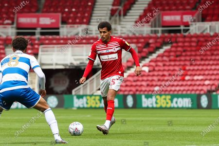 Middlesbrough midfielder Ravel Morrison (15) during the EFL Sky Bet Championship match between Middlesbrough and Queens Park Rangers at the Riverside Stadium, Middlesbrough