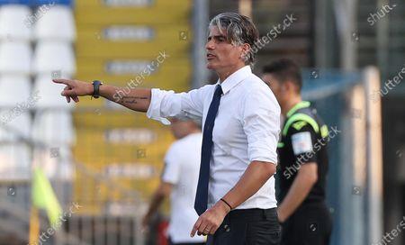 Brescia's head coach Diego Lopez reacts during the Italian Serie A soccer match between Brescia Calcio and Hellas Verona at the Mario Rigamonti stadium in Brescia, Italy, 05 July 2020.