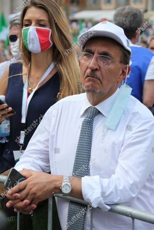 """Demonstration of the center-right """"Together for Italy of Labor"""" in protest to the measures of the Conte government. Pictured: Ignazio La Russa Brothers of Italy"""