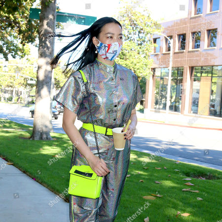 Editorial photo of Yi Zhou out and about, Los Angeles, USA - 04 Jul 2020