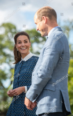 Prince William and Catherine Duchess of Cambridge visit to Queen Elizabeth Hospital, King's Lynn