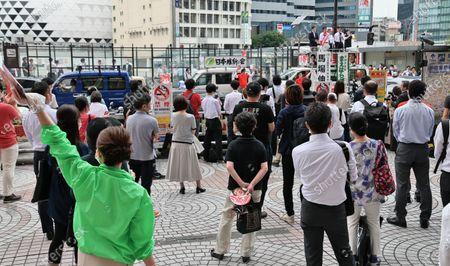 Editorial image of Tokyo gubernatorial election campaign, Tokyo, Japan - 03 Jul 2020