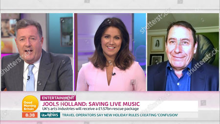 Piers Morgan, Susanna Reid and Jools Holland
