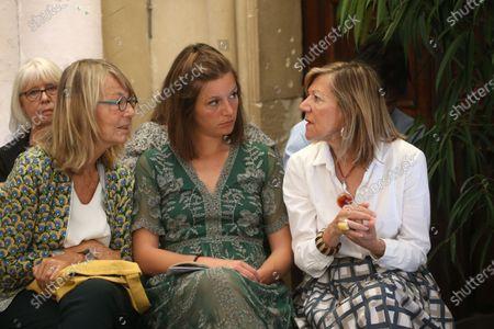 Francoise Nyssen, Josephine et Carol-Ann De Carolis.
