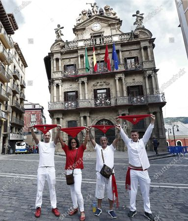 Editorial image of Pamplona's popular Running of the Bulls canceled due to coronavirus pandemic, Spain - 06 Jul 2020