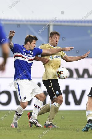 Editorial picture of Soccer : Serie A 2019-2020 : Sampdoria 3-0 Spal, Genova, Italy - 05 Jul 2020