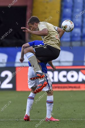 Editorial image of Soccer : Serie A 2019-2020 : Sampdoria 3-0 Spal, Genova, Italy - 05 Jul 2020