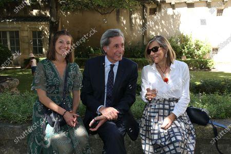 Patrick de Carolis, Josephine and Carol-Ann De Carolis.