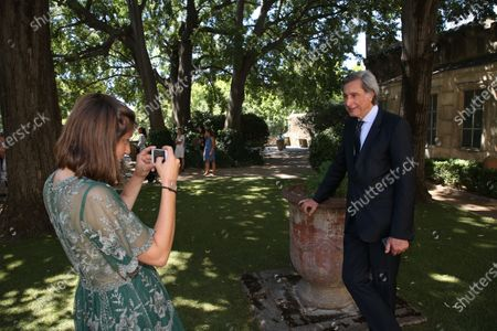 Editorial picture of Patrick De Carolis, new mayor of Arles poses with his family, Arles, France - 05 Jul 2020