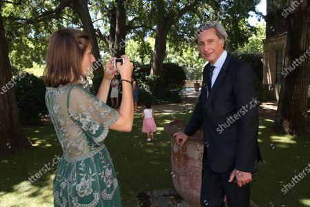 Editorial photo of Patrick De Carolis, new mayor of Arles poses with his family, Arles, France - 05 Jul 2020