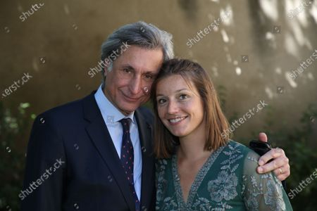 Editorial image of Patrick De Carolis, new mayor of Arles poses with his family, Arles, France - 05 Jul 2020
