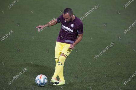 LaLiga Santander match played between Villarreal and Barcelona. Santi Cazorla.