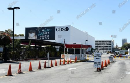 "Stock Image of The entrance to CBS Television City studio is pictured, in Los Angeles. The CBS soap opera ""The Bold and the Beautiful"" resumes after production had been shut down for three months due to the outbreak of COVID-19. Executive producer Bradley Bell devised a detailed plan to create a safe working environment that includes social distancing, temperature checks, no craft service, required masks or shields and, the placement of mannequins to help ensure social distancing"