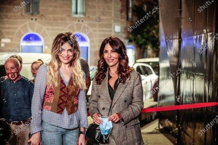 'Il cinema in piazza' outdoor cinema screenings, Valerio Carocci, actresses Micaela Ramazzotti and Sabrina Ferilli during the first evening in piazza San Cosimato