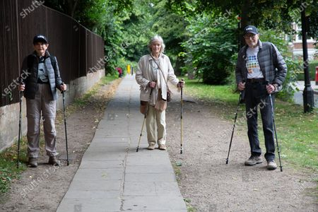 Angela Humphery, Virginia McKenna & Martin Humphery. Virginia McKenna (89) and Will Travers (son), Born Free Founders, joined Hampstead veterans Angela (89) & Martin Humphery (90) have been walking daily for 2 months to raise funds (£30,696 so far) for Born Free's campaign to shut down wild life markets globally.