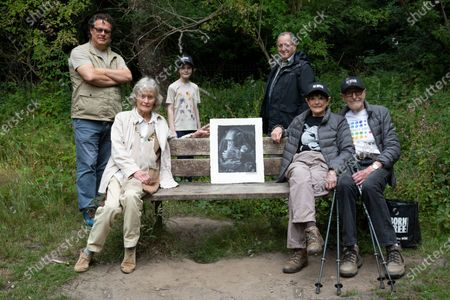 Will McKenna, Virginia McKenna, Hector Bateman-Harden, David Margulies, Angela Humphery & Martin Humphery. Virginia McKenna (89) and Will Travers (son), Born Free Founders, joined Hampstead veterans Angela (89) & Martin Humphery (90) have been walking daily for 2 months to raise funds (£30,696 so far) for Born Free's campaign to shut down wild life markets globally.