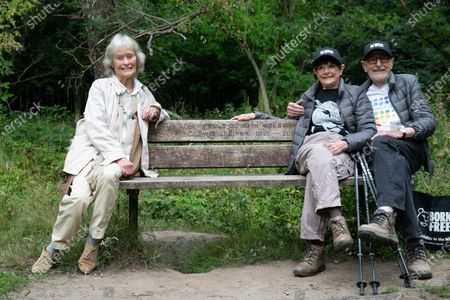 Virginia McKenna, Angela Humphery & Martin Humphery. Virginia McKenna (89) and Will Travers (son), Born Free Founders, joined Hampstead veterans Angela (89) & Martin Humphery (90) have been walking daily for 2 months to raise funds (£30,696 so far) for Born Free's campaign to shut down wild life markets globally.