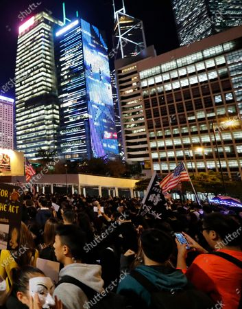 Dated, protesters during a demonstration in Hong Kong. The Chinese ambassador to Britain, Liu Xiaoming on Monday July 6, 2020, accused Britain's Prime Minister Boris Johnson of meddling in China's affairs by offering citizenship to 3 million people from Hong Kong following the imposition of a national security law