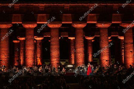 Editorial picture of ' Le vide dell'amicizia' concert for Syria, Paestum, Italy - 05 Jul 2020
