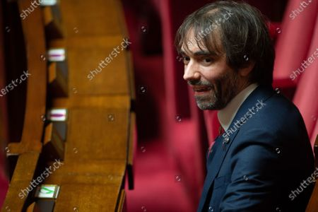 French deputy Cedric Villani during the debate at the french National Assembly about the vote of the application stop covid-19, on May 27, 2020, as France eases lockdown measures taken to curb the spread of the COVID-19 pandemic, caused by the novel coronavirus.