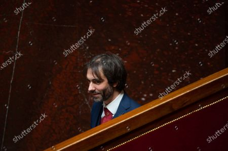 Stock Image of French deputy Cedric Villani during the debate at the french National Assembly about the vote of the application stop covid-19, on May 27, 2020, as France eases lockdown measures taken to curb the spread of the COVID-19 pandemic, caused by the novel coronavirus.