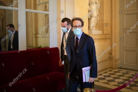President of the LREM national assembly group Gilles Le Gendre before the debate at the french National Assembly about the vote of the application stop covid-19, on May 27, 2020, as France eases lockdown measures taken to curb the spread of the COVID-19 pandemic, caused by the novel coronavirus.