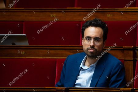 French LREM deputy Mounir Mahjoubi during the debate at the french National Assembly about the vote of the application stop covid-19, on May 27, 2020, as France eases lockdown measures taken to curb the spread of the COVID-19 pandemic, caused by the novel coronavirus.