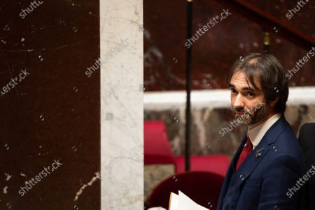 Stock Photo of French deputy Cedric Villani during the debate at the french National Assembly about the vote of the application stop covid-19, on May 27, 2020, as France eases lockdown measures taken to curb the spread of the COVID-19 pandemic, caused by the novel coronavirus.
