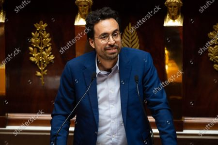 French LREM deputy Mounir Mahjoubi speaks during the debate at the french National Assembly about the vote of the application stop covid-19, on May 27, 2020, as France eases lockdown measures taken to curb the spread of the COVID-19 pandemic, caused by the novel coronavirus.