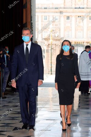 Spanish Royals attend Covid-19 mass funeral, Madrid