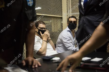 The brothers Luis Enrique and Ricardo Alberto Martinelli Linares, children of the former Panamanian President Ricardo Martinelli, are detained in the Tower of Courts in Guatemala City, Guatemala, 06 July 2020. According to official sources, both brothers intended to leave Guatemala for Panama on a humanitarian flight when authorities detained them. The spokesman for the National Civil Police, Jorge Aguilar, explained that the two brothers, of Italian and Panamanian nationality, are accused of 'conspiracy to commit money laundering involving specific activity according to the United States code'.