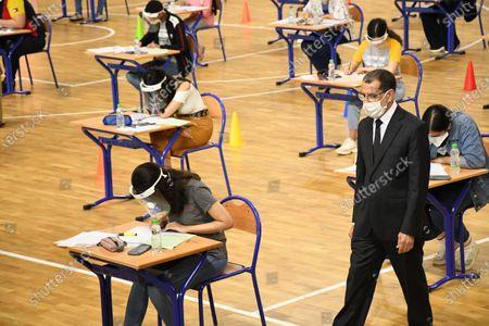 Editorial photo of Morocco Rabat Covid 19 College Entrance Exam - 06 Jul 2020